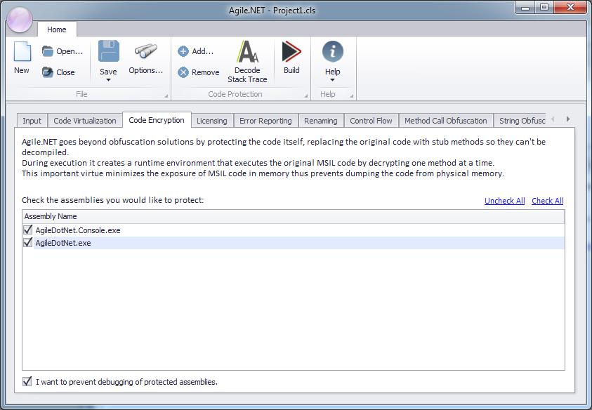 Code encryption - Agile net - Product Documentation